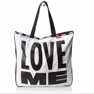 Curtis Kulig / LeSportsac Lezip LOVE ME Tote NWT